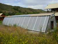 solar greenhouse at Chewuch Farm