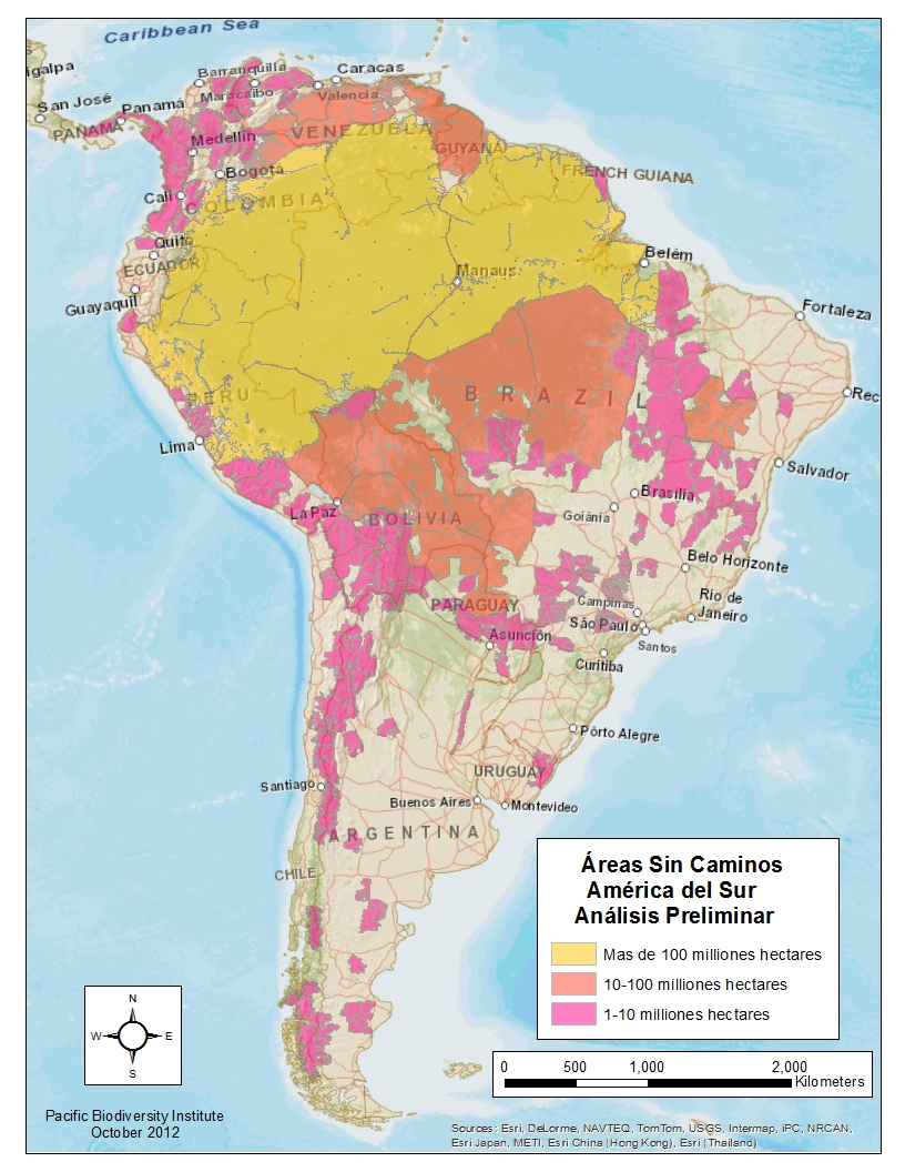 South American Wildlands And Biodiversity - Sur america map